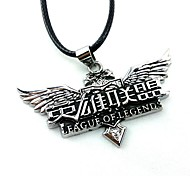 cheap -Jewelry Inspired by LOL Cosplay Anime/ Video Games Cosplay Accessories Necklace Silver Alloy Male