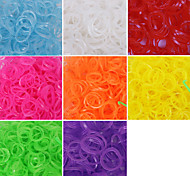600PCS Loom Luminous Fashion Loom Band(1Package S Clip)