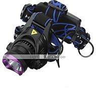 Linternas de Cabeza Faro Delantero LED 2200 lm 3 Modo Cree XM-L2 Recargable Impermeable para Camping/Senderismo/Cuevas De Uso Diario