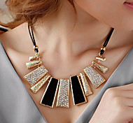 cheap -Women's Geometric Irregular Shape Fashion European Statement Necklace Rhinestone Imitation Diamond Alloy Statement Necklace Party Daily
