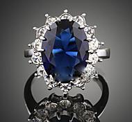 Недорогие -Женский Массивные кольца Кристалл Синтетический сапфир Мода Синтетические драгоценные камни Цирконий Сплав Бижутерия Назначение Для