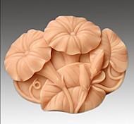 Недорогие -ипомеи цветок в форме помадной торт шоколадный силиконовые формы
