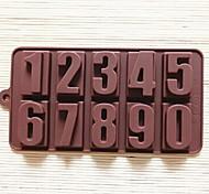 Недорогие -Номера форма торт плесень льда желе формы шоколада, силиконовая 22 × 11,2 × 2 см (8,7 × 4,4 × 0,8 дюйма)