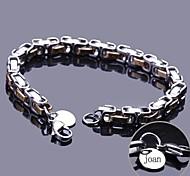 Недорогие -персональный подарок цепь браслет из нержавеющей стали выгравировано ювелирных изделий