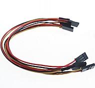 baratos -3 pinos linhas de 20 centímetros 2,54 milímetros DuPont (5 peças)