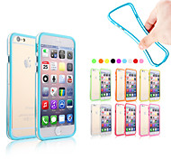 cheap -Case For Apple iPhone 6 iPhone 6 Plus Other Bumper Solid Colored Soft Silicone for iPhone 6s Plus iPhone 6s iPhone 6 Plus iPhone 6