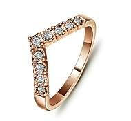 cheap -Women's Crystal / Gold Plated Statement Ring - Love / Simple Style Silver / Golden Ring For Wedding / Party / Daily