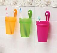 Стакан для зубных щеток Для душа Пластик Многофункциональный / Экологически чистый / Подарок