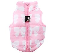 Cat Dog Coat Vest Dog Clothes Breathable Casual/Daily Keep Warm Bowknot Pink Costume For Pets