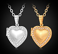 cheap -Women's Synthetic Diamond Rhinestone Gold Plated Imitation Diamond Choker Necklace Pendant Necklace Lockets Necklace - Love Fashion