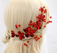 Women's Flower Girl's Crystal Alloy Headpiece-Wedding Special Occasion Flowers