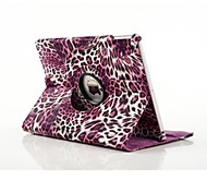 cheap -Case For iPad Air 2 with Stand Full Body Cases Leopard Print PU Leather for iPad Air 2