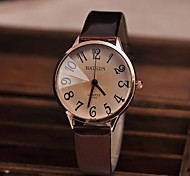 Women's Watch Vintage Big Numbers Quartz PU Band(Assorted Colors) Cool Watches Unique Watches Fashion Watch Strap Watch