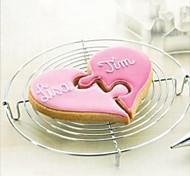 Недорогие -Валентина любовь сердца к сердцу головоломки резак форма печенья, нержавеющая сталь