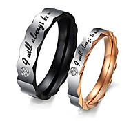 Ring Birthstones Wedding / Party / Daily / Casual / Sports Jewelry Titanium Steel Women Couple Rings5 / 6 / 7 / 8 / 9 / 10 / 11 / 12Rose