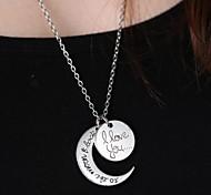 Unisex sole moda e luna ciondolo collana pendente della lega (argento, oro) (1 pc)