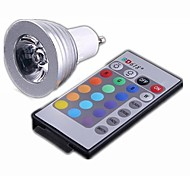 3w gu10 led spotlight 3 haute puissance led 300lm rgb chaud: 2800-3200k; cool: 6000-6500k ac 100-240v 1pc