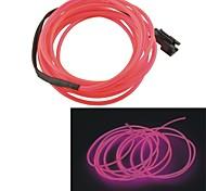 automobile 2m lunghi 2,3 millimetri di diametro flessibile el striscia filo neon glow Rope- (12v)