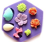 Недорогие -мини-роза стеклянные бантом форме цветка помады торт шоколадный силиконовые формы кекс украшения инструменты, l8.5cm * w7.5cm * h1.3cm