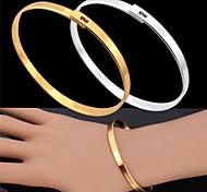 u7®vintage браслет для мужчин из 18-каратного золота платины в реальном покрытием простой браслет ювелирные изделия для мужчин / женщин