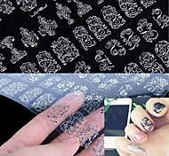 cheap -1x 108 PCS  3D Silver Flower  Nail Art Stickers