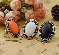 cheap -Women's Alloy Statement Ring - Circle Vintage / Elegant / Fashion White / Black / Orange Ring For Party / Daily / Casual