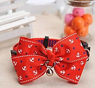 Dog Collar Adjustable/Retractable / With Bell Red Nylon