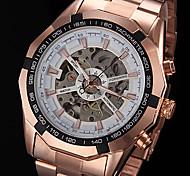 FORSINING Da uomo Orologio da polso orologio meccanico Carica automatica Orologi con incisioni Placcato oro rosa Acciaio inossidabile