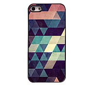 cheap -Colorful Triangle Design Aluminium Hard Case for iPhone 5/5S
