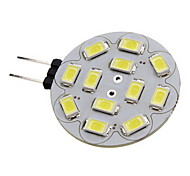 2W G4 Faretti LED 12 leds SMD 5730 Bianco caldo Luce fredda 180-210lm 3500/6000K DC 12V