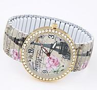 cheap -Women's Bracelet Watch Fashion Watch Casual Watch Quartz Casual Watch Alloy Band Eiffel Tower Multi-Colored