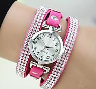 cheap -Women's Wrist watch Bracelet Watch Fashion Watch Quartz Imitation Diamond Leather Band Charm Rose