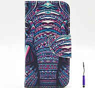 The African Elephant Pattern PU Leather Case Cover with A Touch Pen ,Stand and Card Holder for Motorola Moto G