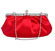Women Bags Silk Evening Bag for Event/Party White Black Purple Red Almond