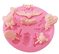 Cake Decorating Lollipop Love Heart Candy Silicone Fondant Mould For Crafts Jewelry Chocolate PMC Resin Clay