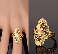 Women's Band Rings Costume Jewelry Gold Plated Alloy Jewelry For Wedding Party Daily Casual Sports