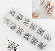2500Pcs 3 Sizes Of Round White Acrylic Diamond Nail Art Decoration