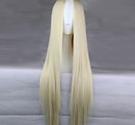 Недорогие -жен. Парики из искусственных волос Длиный Прямой силуэт Кремовый Парик для Хэллоуина Карнавальный парик Парики к костюмам