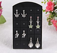24 Hole Resin Earrings Displays(White,Black)(1Pc)