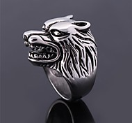 U7® Punk Cool Men's Ring 316L Stainless Steel Wolf Big Band Ring for Men Never Fade Fashion Jewelry