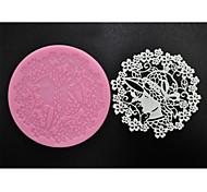 abordables -quatre c fournitures de cuisson douce dentelle moule tapis en silicone pour la pâtisserie, silicone mat fondant outils de gâteau couleur