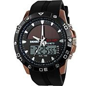 Недорогие -SKMEI Муж. электронные часы Спортивные часы Цифровой Секундомер Работает от солнечной энергии С двумя часовыми поясами силиконовый Группа