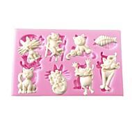 Недорогие -мини-мультфильм животных формы сома силиконовые формы для кексов украшения шоколадных искусств&ремесла