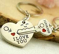 cheap -Romantic Wedding Key Ring Keychain for Lover Valentine's Day(One Pair)