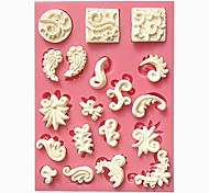 Small Relief Cake Border Fondant Cake Molds Chocolate Mould For The Kitchen Baking Cake Tool Decoration
