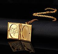 Feminino Colares com Pendentes Medalhões Colares Cobre Chapeado Dourado 18K ouro Moda bijuterias Jóias Para Casamento