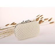 Women Bags Evening Bag for Event/Party White Ivory