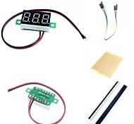 """Недорогие -0.36 """"привели две линии 3-цифровой постоянного тока Модуль метр вольтметр и аксессуары для Arduino"""