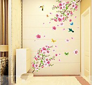 Animals Botanical Romance Still Life Fashion Wall Stickers Plane Wall Stickers Decorative Wall Stickers,Vinyl Material RemovableHome