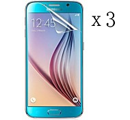 [3-Pack] High Transparency LCD Crystal Clear Screen Protector with Cleaning Cloth for Samsung GALAXY S6